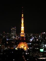 シーサイドトップからの夜景:東京タワー