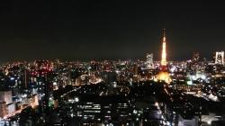 シーサイドトップからの夜景:東京タワー・六本木方面