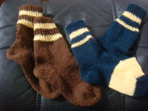 1.毛糸の靴下a