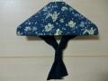 セーラーカラー(紺色の花柄)1