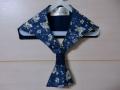 セーラーカラー(紺色の花柄)2