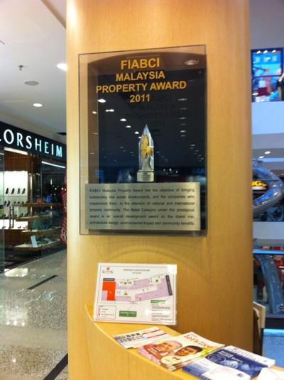 Malaysia Property Award 2011受賞のショピングモールです