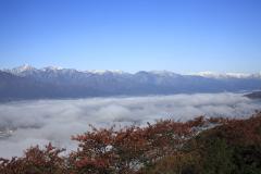 松本市中山_雲海とアルプス