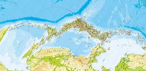 日本側から見た地図