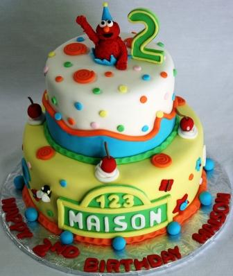 how to make a baby elmo cake