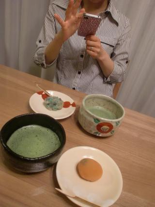 鶴屋吉信の主菓子とお抹茶♪