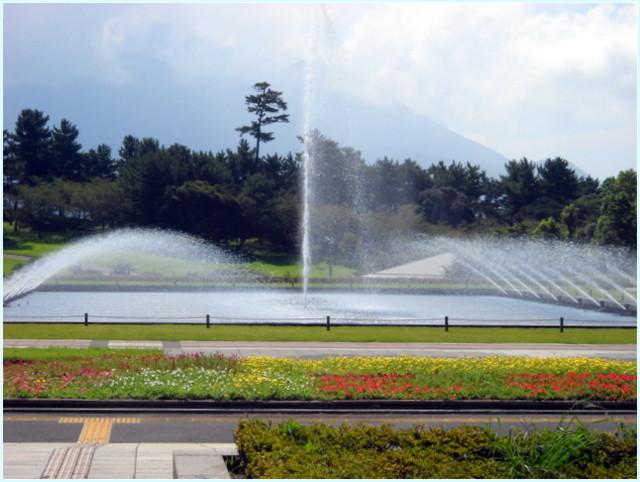噴水 吉野公園