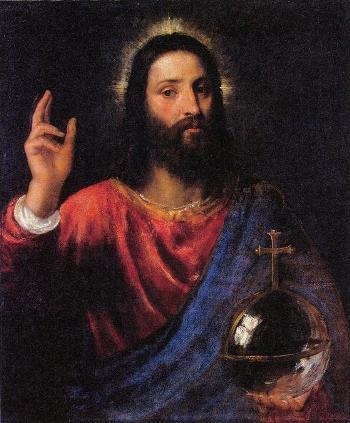 01_ティツィアーノ・ヴェチェリオ「祝福するキリスト」