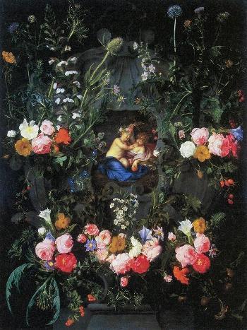 08_「花飾りに囲まれた幼子キリストと撰者ヨハネ」
