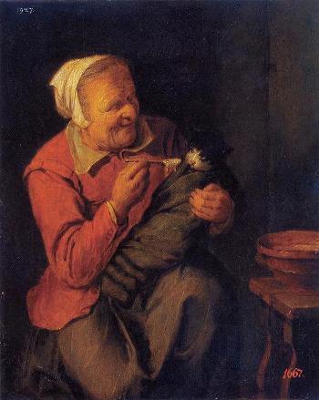 09_「農婦と猫」