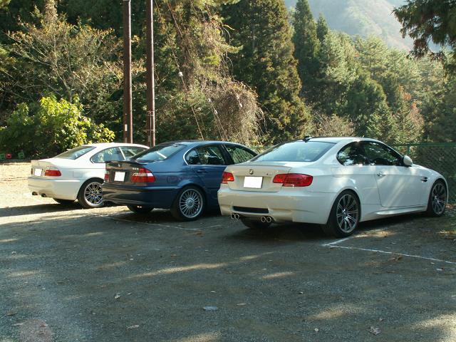 四尾連湖駐車場