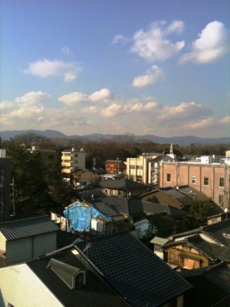バルコニーから御所の眺望