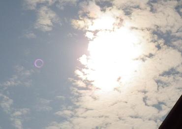 20120521金環食観測。