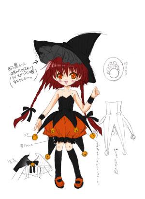 2012ハロウィン赤髪魔女っ子