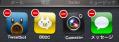アプリを長押しして、左上の赤いマークを押してアプリを全部消します。