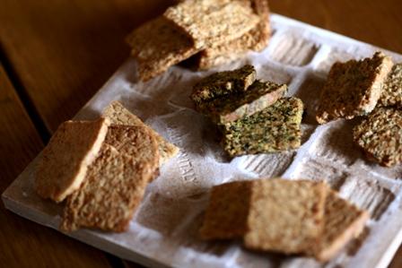 20100916 酒粕酵母クッキー お茶、生姜、プレーン、青のりごま、黒コショウ