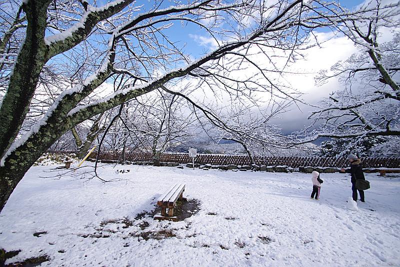 雪遊びー彦根