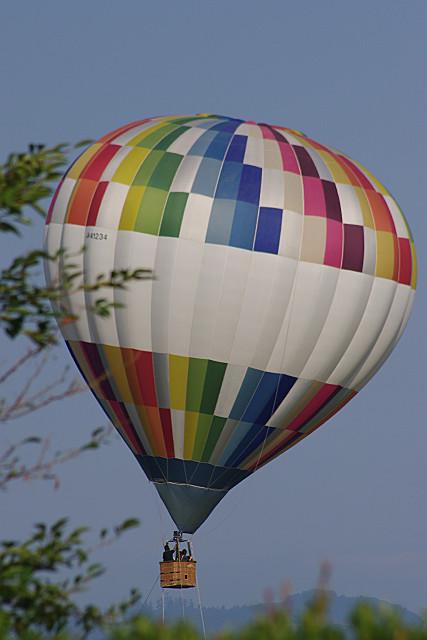 熱気球から眺める