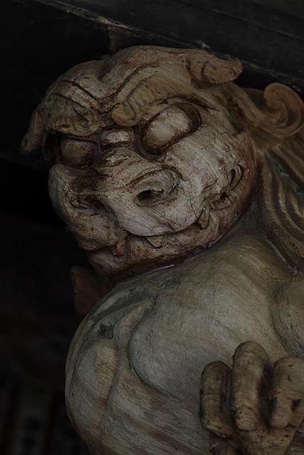 木彫りのウン形