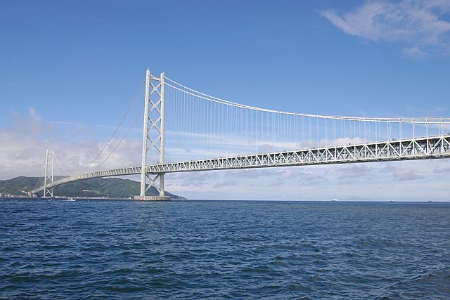 絵葉書風 明石海峡大橋