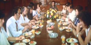 皆で一斉に朝食会