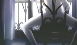 エンディング5 素っ裸で椅子に座っている不二子ちゃんの股間