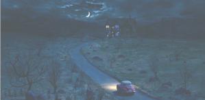 ある屋敷に向かう一台の車
