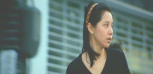 道で書店の青年を偶然見つけて走る恵子