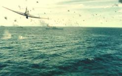 アメリカの敵艦に突っ込む