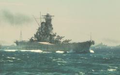ミッドウェイ海戦に進行する大和