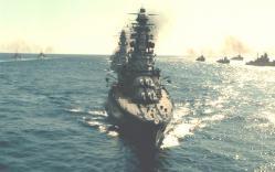 海上に出た連合艦隊