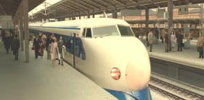 新幹線で新婚旅行