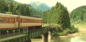 茶川を乗せた列車