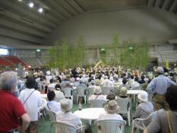 屋内では旭川農業高校吹奏楽部の演奏会♪