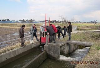 大坪川用水検分