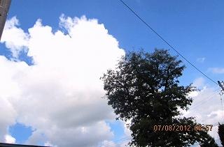 雲の動きに変化