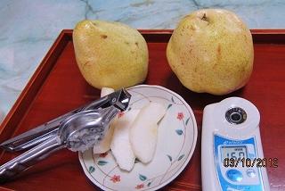 洋梨の糖度