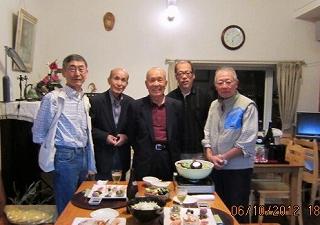 松永先生と旧交を温める