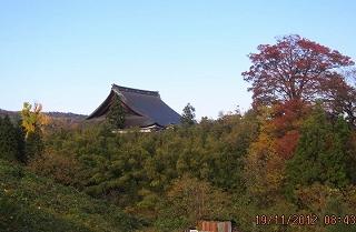 聞名寺の大屋根