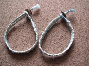 ヘンプブレスレット 平編み