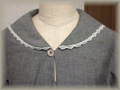 セーラーシャツの襟