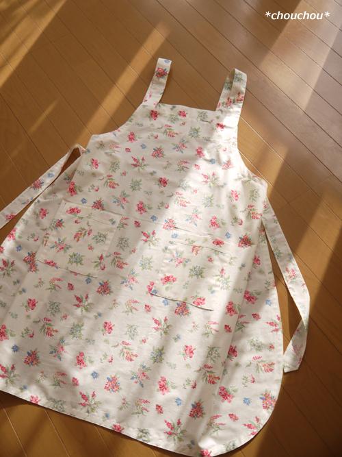 エプロン 花ピンク 1