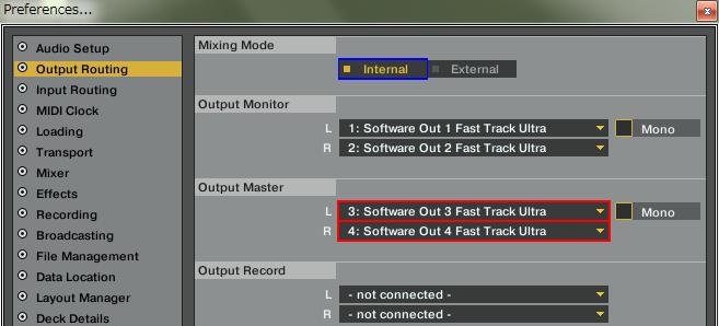 TRAKTOR Pro - Output Routing