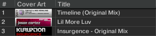 TRAKTOR Pro - 曲リスト