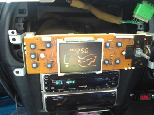 4月8日 エアコンコントロールスイッチ CN9A イルミ照明確認