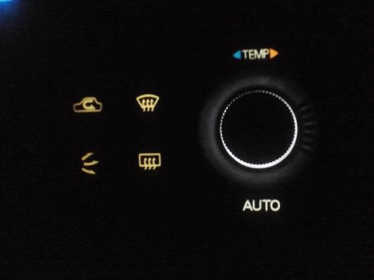 エアコンコントロールスイッチ部分LED化 ③