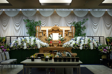 親方への花祭壇1