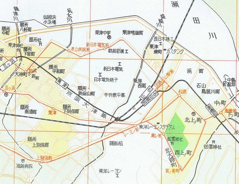 S37.1 京阪神市街地図集 東レ付近
