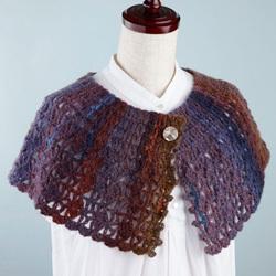 横編みのケープレット