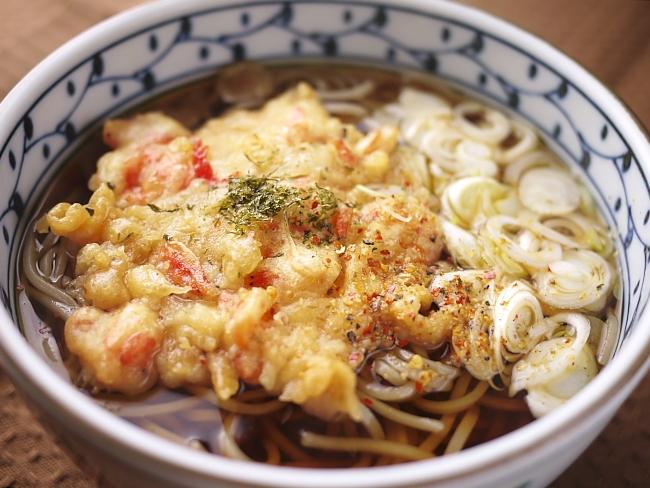 桜海老のかき揚げ蕎麦